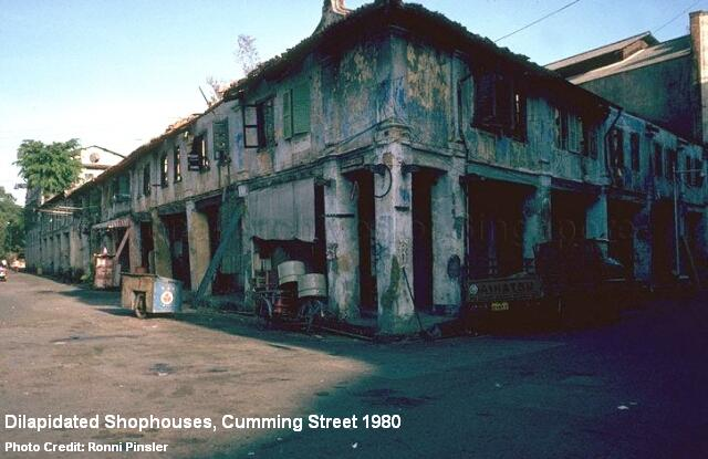dilapidated shophouses cumming street 1980
