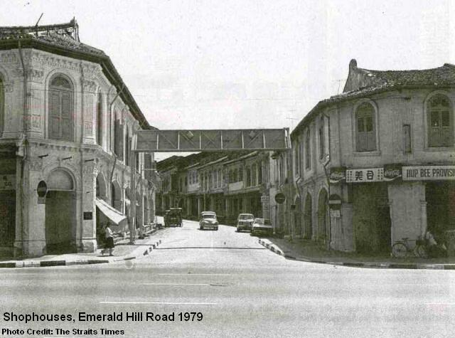 emerald hill road shophouses 1979