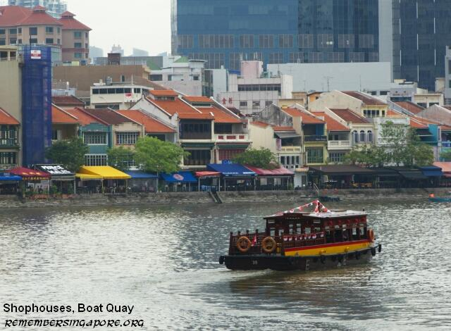 shophouses boat quay singapore river