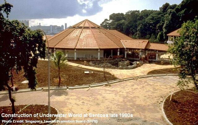 construction of underwater world late 1980s