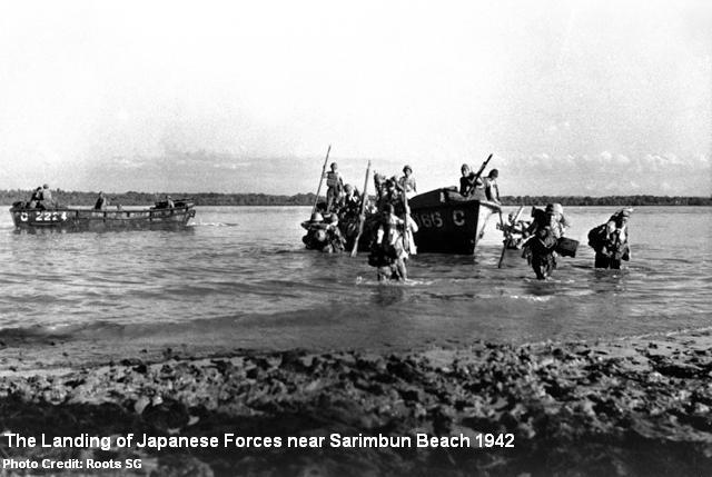 sarimbun beach landing 1942