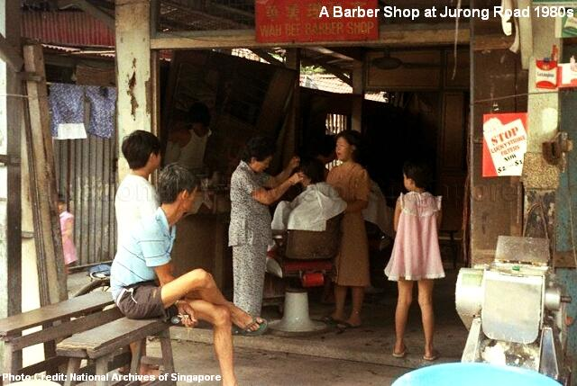 barber shop at jurong road 1980s