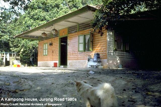 kampong house at jurong road 1980s