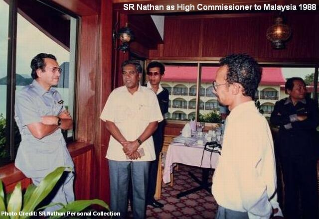 sr nathan high commissioner to malaysia 1988
