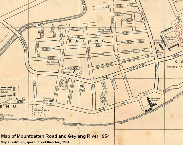 map of mountbatten road 1954