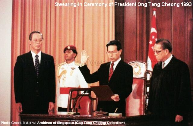 ong-teng-cheong-swearing-in-ceremony-president-1993